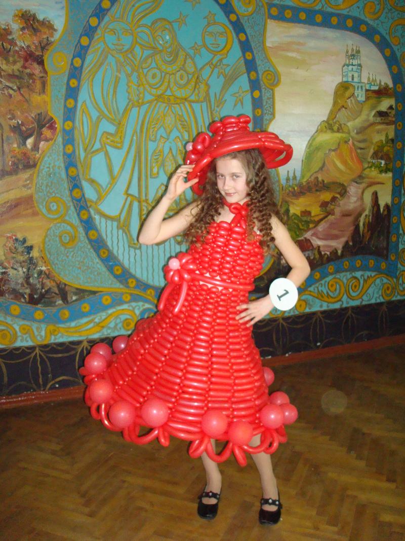 Сделать платье из воздушных шаров